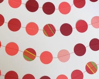 Red Circle Garland