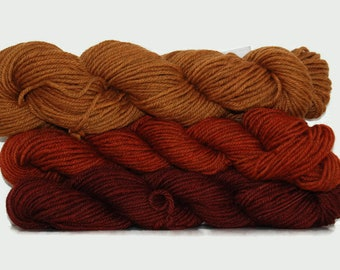 Natural Sock yarn 115g / 4.95 ounce, hand dyed  with madder, buckthorn and indigo /madder