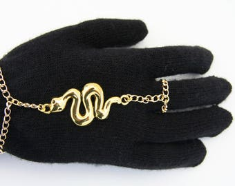 Bohemian Gold Handpiece with Snake Design