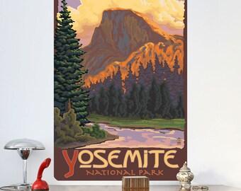 Yosemite Park Half Dome Vignette Wall Decal - #60760
