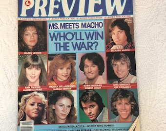 PREVIEW magazine, January 1979, vintage magazine