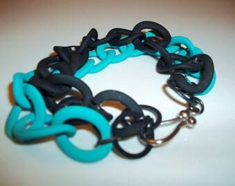 Two tone powder coated chain bracelet