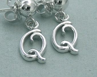 Double Q Dog Agility Post Earrings - Sterling Silver Canine Agility Jewelry