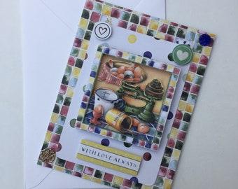 With Love Always | Baker's dozen handmade card