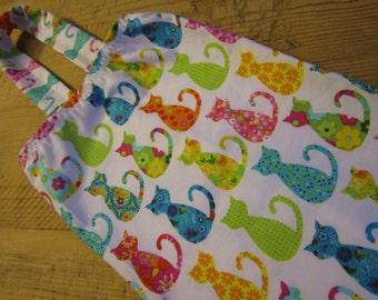 Plastic Bag Holder - Grocery Bag Holder, Dispenser - Colorful Calico Cats
