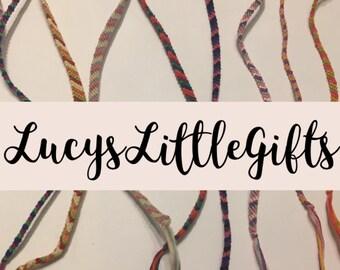DIY, Custom, Design Your Own Striped Friendship Bracelet