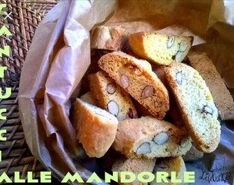 Tuscan Cantucci biscuits with homemade almonds, 300 gr.