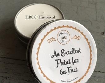 1/2oz tin - Historically Inspired: White Face Paint - 1/2oz tins Historical Label