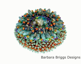 """The """"Marine Life Anemone"""" Bead Embroidered Brooch Kit"""
