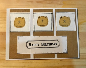 Chow Chow Birthday Card