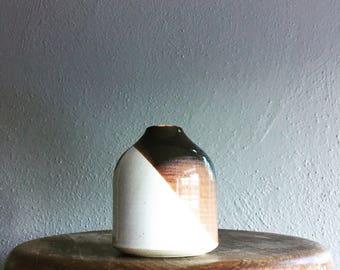 Vintage clay bud vase