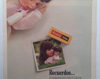 """Kodak Film and """"Kool"""" Cigarettes - Double Vintage Ad (1968)"""