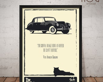 The Godfather Poster - Unique Retro Movie Poster - Movie Print, Film Poster, Wall Art, Francis Ford Coppola Art