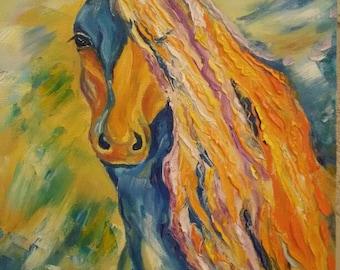 Horse, oil paints