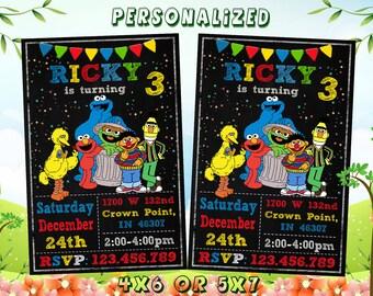 Elmo Invitation, Elmo Birthday Invitation, Elmo, Elmo Printable, Elmo Birthday Card, Elmo Invites