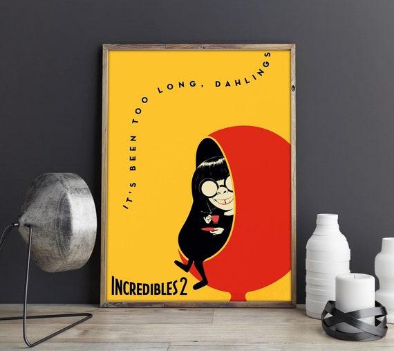 The Incredibles Pixar Poster Pixar Art Mr Incredible Wall Art
