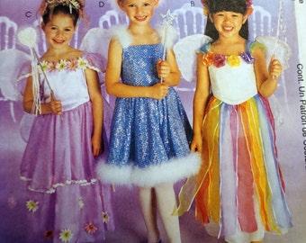 McCalls 2976/P212 - Girl's Fairy Princess Costume Pattern 4-5-6
