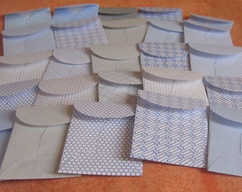 """25 Mini Coin Envelopes - Recycled Security Envelopes - Recycled Mini Coin Envelopes - Tiny Coin Envelopes - 1 3/8"""" x 2"""""""