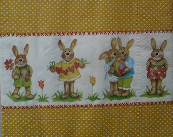 152 Easter Bunny napkin