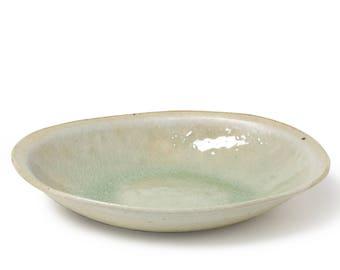 Handmade Oval Dish with Original Glaze Pasta Plate Bowl Dinnerware