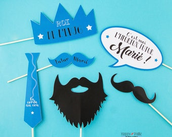 Kit 6 bachelor party boy - Evjg photobooth accessories