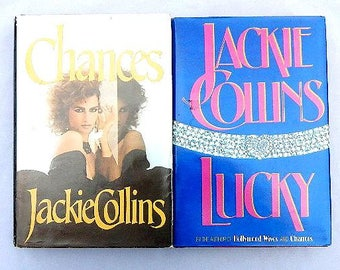 Jackie Collins Set of Two Vintage Hardcover Books With Dustcovers