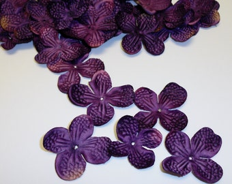 One Lot of 40 Hydrangea Blossoms in Purple