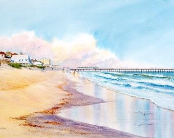 Wrightsville Reflections- Coastal Beach Decor- Beach Print- Beach House Decor- Beach Painting
