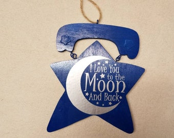 I love you to the moon and back  -free personalization