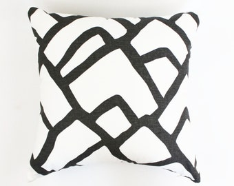 Schumacher Zimba Pillows Both Sides (Shown in Charcoal Grey-comes in 4 Colors)