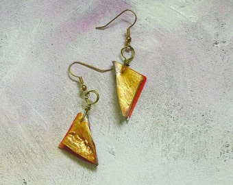 Tangerine dangles upcycled artist palette in spring colors