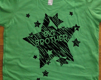 Big Brother Shirt - 7 Colors Available - Kids T shirt Sizes 2T, 4T, 6, 8, 10, 12 - Gift Friendly