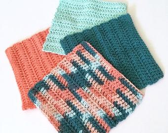 Crochet Washcloth - Kitchen Dishcloth - Kitchen Linens - Spa Cloth - Natural Cotton Cloth - Makeup Remover Facecloth - Housewarming Gift