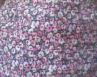 Vintage half apron, Cotton apron, Retro kitchen apron, Floral apron