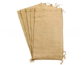 """25 Pack - 14x26 Large Burlap Bags - Natural Rustic Burlap Bags with Natural Jute Drawstring - Gunny Sack Bag - 14"""" x 26"""""""