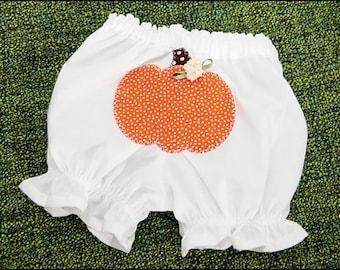 Pumpkin Applique Baby Bloomers