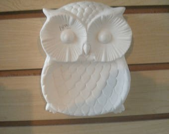 Ready to paint Ceramic bisque owl Soap dish spoon rest MADE to ORDER ceramic owl decor kitchen owl soap dish gifts for her owl décor kitchen