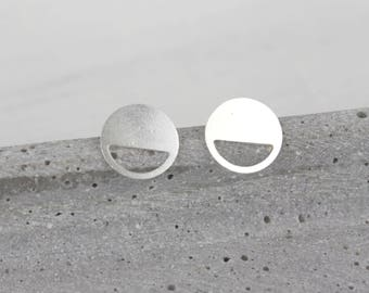 Silver software - silver plated ear studs C15