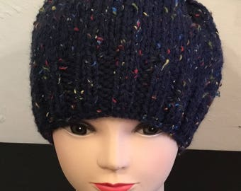 Chunky knitted adult  hats knit in supper and chunky
