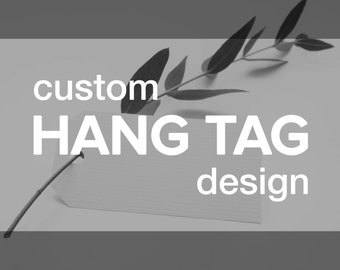 Custom HANG TAG Design | Print Ready Retail Product Hanging Label | Shop Branding | Printable Price Sale  Creative Graphic Commercial