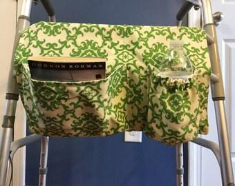 Walker Bag, Walker Caddy, Walker Tote Bag, Walker Purse, Gift for Grandparents, Gift for Elderly, Damask Bag, Grandmother Gift