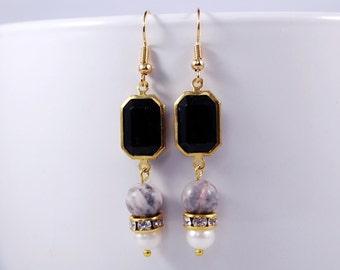 In The Still Of The Night Earrings, Dangle Earrings, Wedding Jewelry, Vintage Flair, Date Night