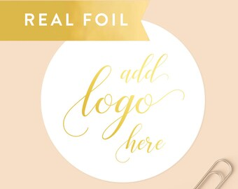 Custom Foil Stickers, Custom Logo Stickers, Gold Foil Logo, Round Stickers, Personalized Stickers, Product Labels, Silver Foil Logo