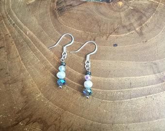 Freshwater Pearl Crystal Earrings