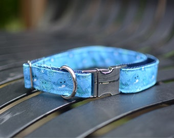 PREMIUM COLLECTION, Eco Canvas Collar, NARWHAL, Dog, Collar, Dog Collar, Waterproof, Buckle, Martingale