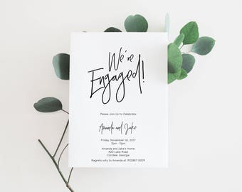 Printable Engagement Invitations | Engagement Invitations | Engagement Invitation | Engagement Party Invitations | Engagement Party