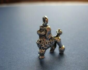 4 Poodle Charms - Poodle Pendant - - Dog Charm - Animal Charm - Animal Pendant - Antique Silver - 22mm x 16mm --(M7-10806)