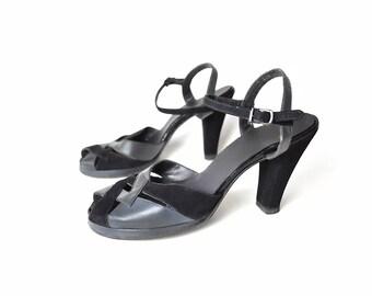 1940s shoes, black, 40s shoes, 1940s heels, 40s heels, 1940s pumps, 40s pumps, black heels, black pumps, vintage 40s, vintage 1940s, grey