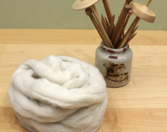 Llama Roving - Undyed Spinning Fiber (4oz)