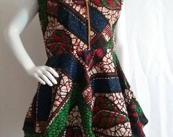 African blouse,super wax blouse, Kitenge blouse